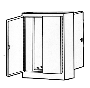 NEMA Type 12 Double Door Freestanding Dual Access Enclosure