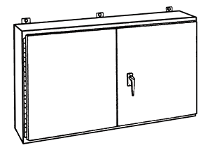NEMA Type 12 Double Door Wall Mounted Enclosure