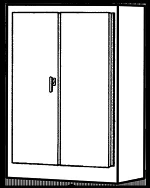 NEMA Type 12 Double Door Freestanding Enclosure