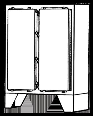 NEMA Type 4 Double Door Floor Mounted Enclosure
