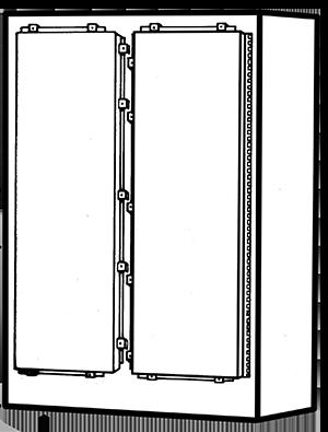 NEMA Type 4 Double Door Freestanding Enclosure