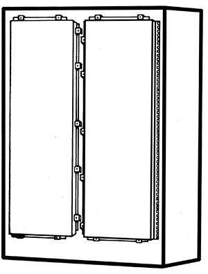 NEMA Type 4 Double Door Freestanding Enclosure