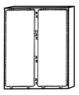 NEMA Type 4X Double Door Freestanding Enclosure